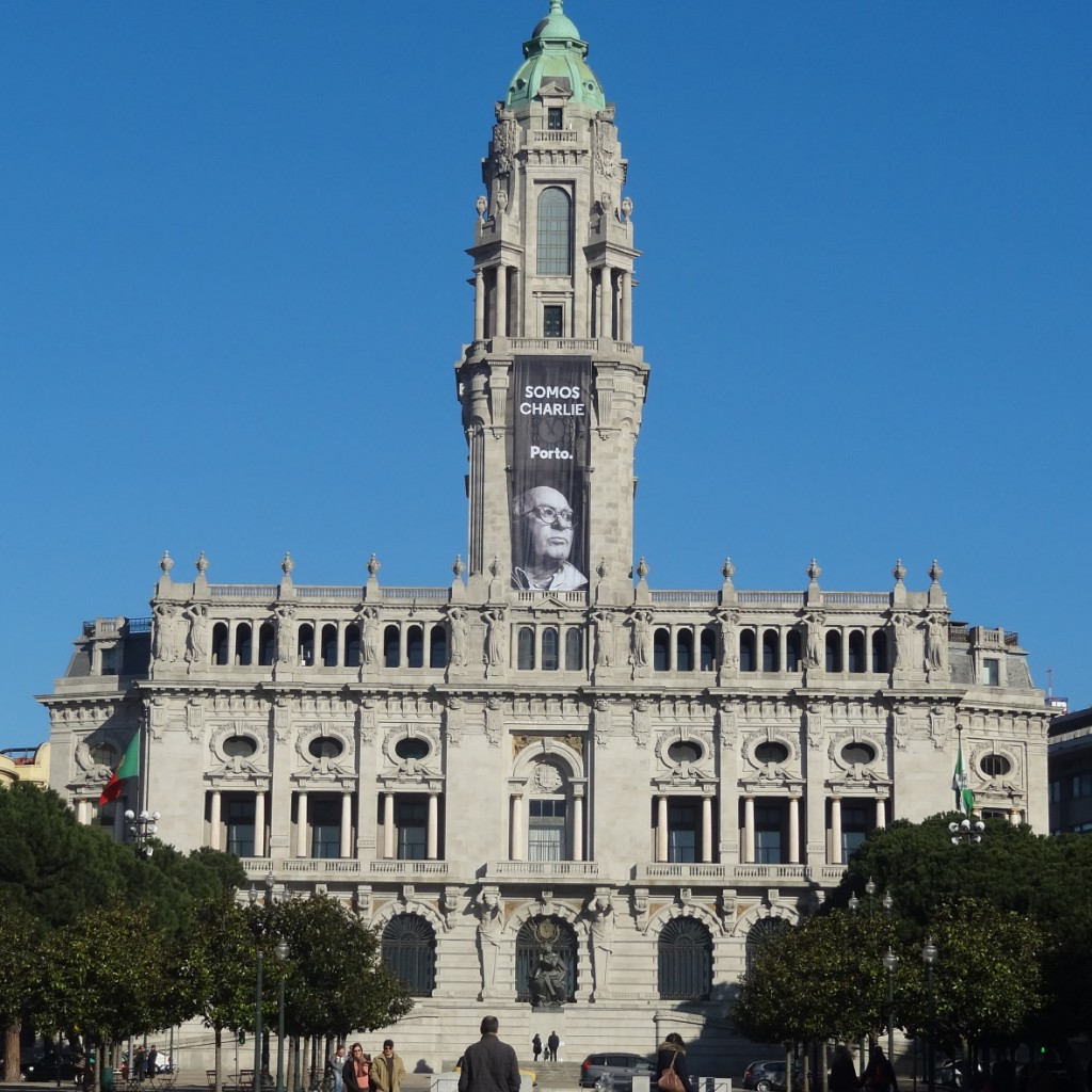 Porto, Portugal, Mairie, Somos Charlie, nous sommes Charlie