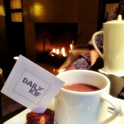 Chocolat chaud au bar de l'hôtel Montalembert