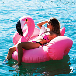 02 bouée piscine flamant rose