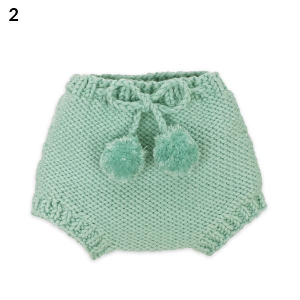 Culottes bébé en maille vert amande - Mamy Factory