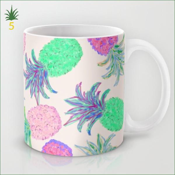 Mug Ananas fluo