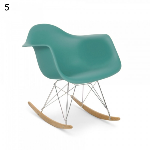 Rocking chair - Réplique Eames - Bleu-vert - cultfurniture.fr