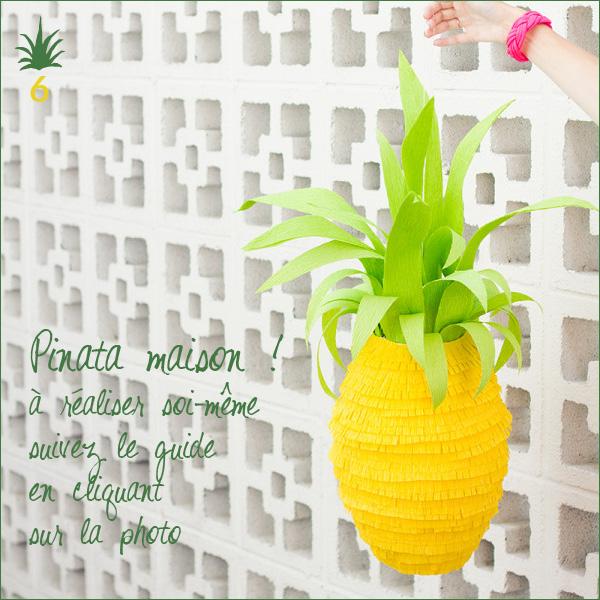 Pinata Ananas à faire soi-même en papier crépon