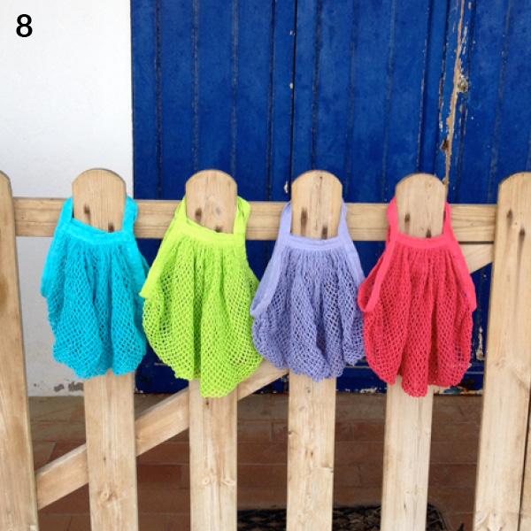 Filet à provision - Coton bio - multicolore