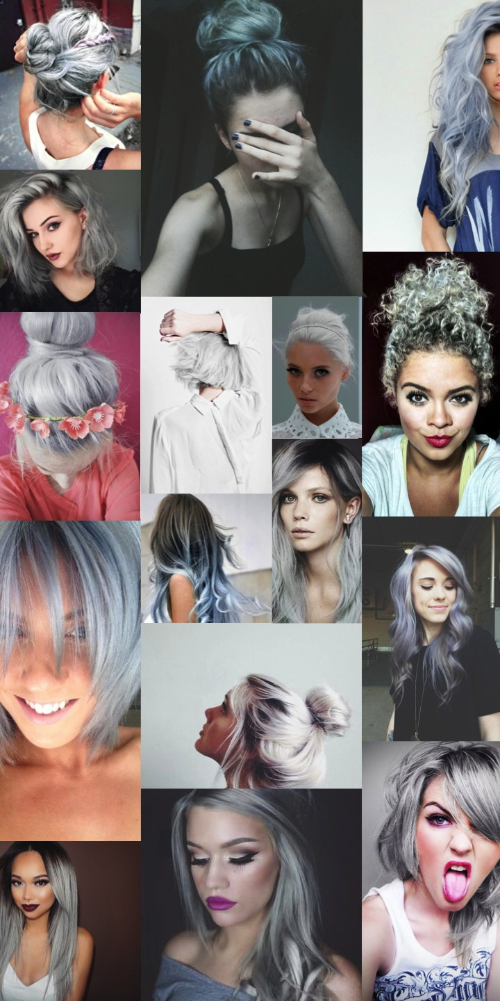 granny hair grey cheveux gris tendance coupe