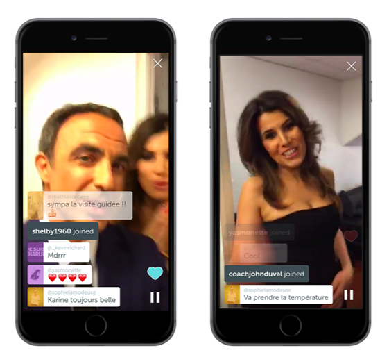 periscope nikos aliagas karine ferri the voice