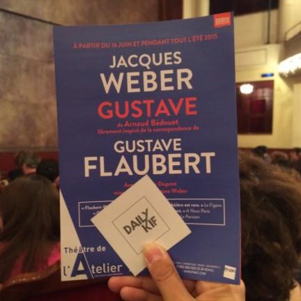 Weber joue Flaubert à l'Atelier