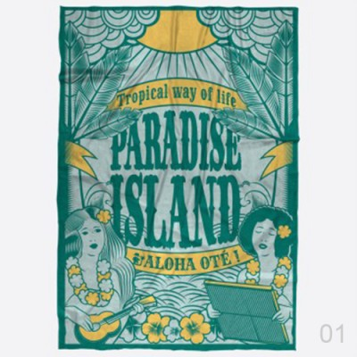INDISPENSABLE PLAGE pareo pardon illustration la reunion 01