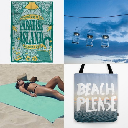 INDISPENSABLE plage top 4 chic pareo drap totebag lampe solaire piquenique