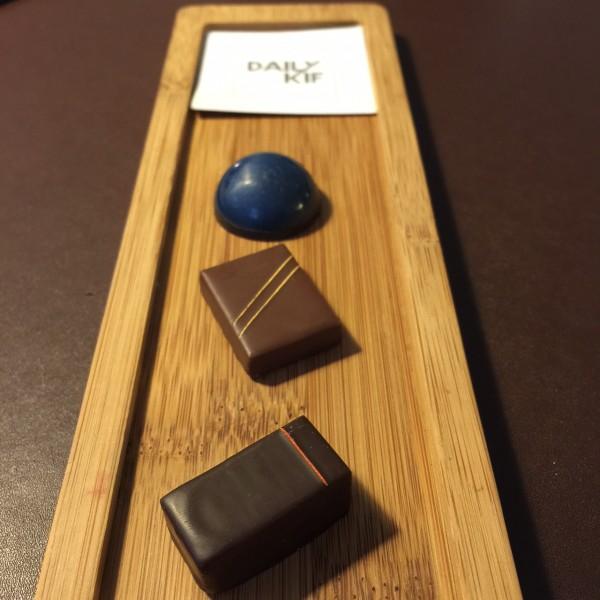 En bleu, le caramel à la fleur de sel de Johann Dubois