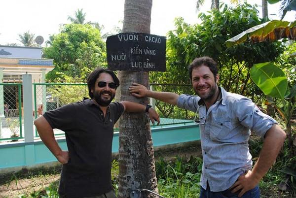 Samuel et Vincent, les fondateurs de la marque Marou, au Vietnam
