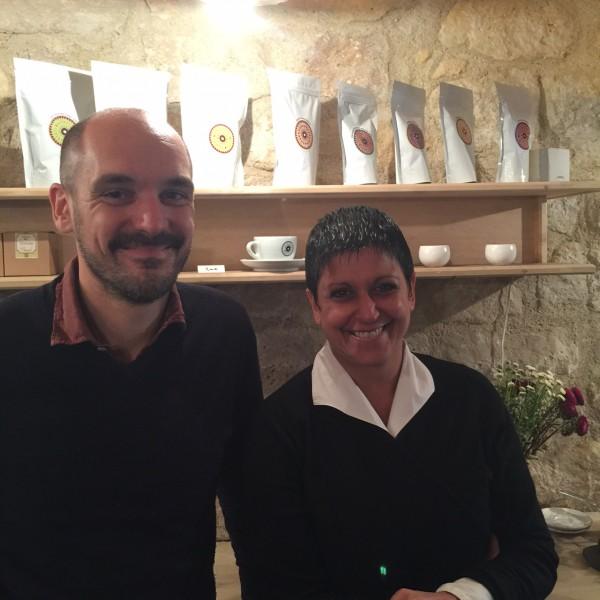 Sylvie Amar, designer culinaire et Hypolite Courty, fondateur de L'Arbre à Café